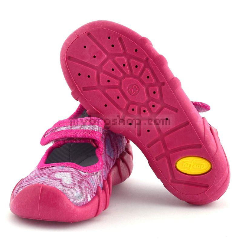 dc7791e91d9 Дишащи детски пантофки за момичета с анатомично ходило,дишаща и олекотена подметка  Бефадо (19 - 24 )